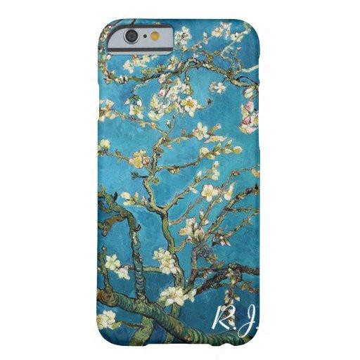 Vincent van Gogh, árbol de almendra floreciente Funda De iPhone 6 Barely There