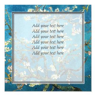 """Vincent van Gogh, árbol de almendra floreciente Invitación 5.25"""" X 5.25"""""""