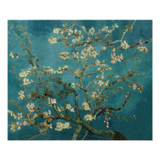 Vincent van Gogh - árbol de almendra floreciente Poster