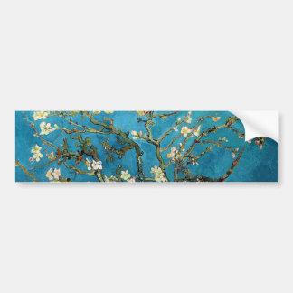 Vincent van Gogh, árbol de almendra floreciente Pegatina Para Auto
