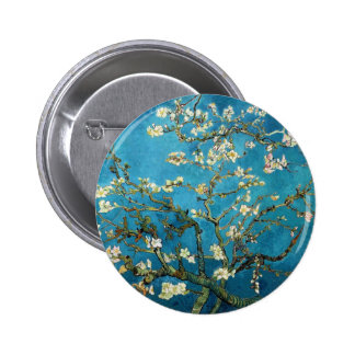 Vincent van Gogh, árbol de almendra floreciente Pin Redondo 5 Cm