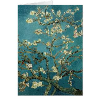 Vincent van Gogh - árbol de almendra floreciente Tarjetón