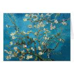 Vincent van Gogh, árbol de almendra floreciente Tarjetón