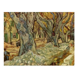 Vincent van Gogh - árboles del paisaje Postales