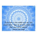 Vincent Van Gogh ART QUOTE inner voice Postcard