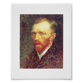 Vincent van Gogh - autorretrato 1887 Póster