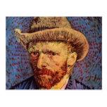 Vincent van Gogh - autorretrato con el gorra Tarjetas Postales