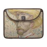 Vincent van Gogh - autorretrato Fundas Para Macbooks