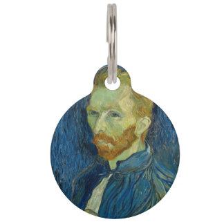 Vincent van Gogh - autorretrato Identificador Para Mascotas
