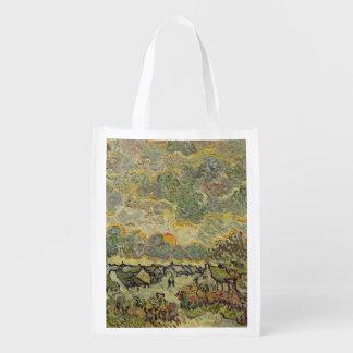 Vincent van Gogh   Autumn landscape, 1890 Reusable Grocery Bag