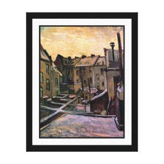 Vincent Van Gogh - Backyards Of Old Houses Canvas Print