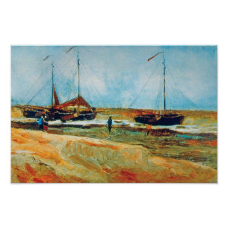 Vincent Van Gogh - Beach at Scheveningen Fine Art Poster