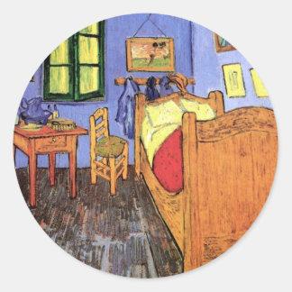 Vincent Van Gogh - Bedroom In Arles Fine Art Classic Round Sticker