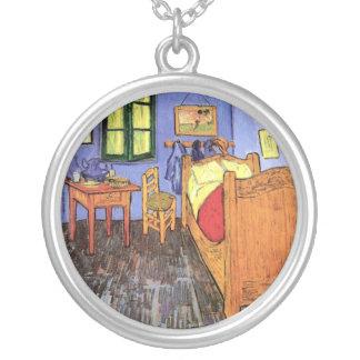 Vincent Van Gogh - Bedroom In Arles Fine Art Silver Plated Necklace