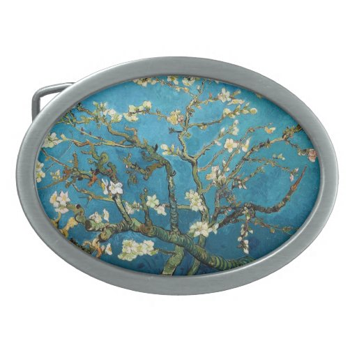 Vincent van Gogh, Blossoming Almond Tree Belt Buckle