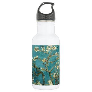 Vincent Van Gogh - Blossoming Almond Tree Blossoms Water Bottle