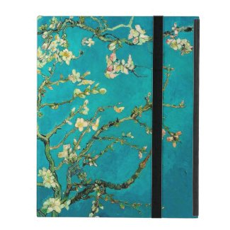 Vincent Van Gogh Blossoming Almond Tree Branches iPad Folio Cases