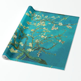 Vincent Van Gogh Blossoming Almond Tree Branches Gift Wrapping Paper