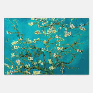Vincent Van Gogh Blossoming Almond Tree Branches Signs