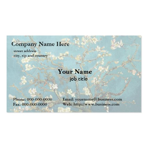 Vincent van Gogh, Blossoming Almond Tree Business Cards