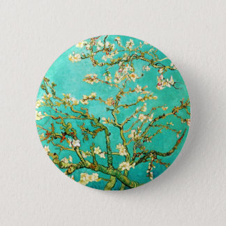 Vincent van Gogh Blossoming Almond Tree Button