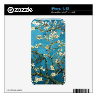 Vincent van Gogh, Blossoming Almond Tree Decals For iPhone 4S