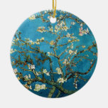 Vincent van Gogh, Blossoming Almond Tree Double-Sided Ceramic Round Christmas Ornament
