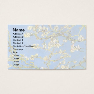 Vincent Van Gogh - Blossoming Almond Tree Fine Art Business Card
