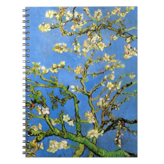 Vincent Van Gogh - Blossoming Almond Tree Fine Art Notebook