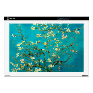 """Vincent Van Gogh Blossoming Almond Tree Floral Art 17"""" Laptop Decal"""