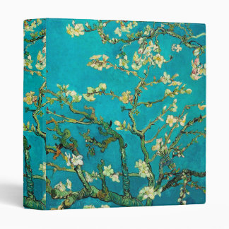Vincent Van Gogh Blossoming Almond Tree Floral Art 3 Ring Binder
