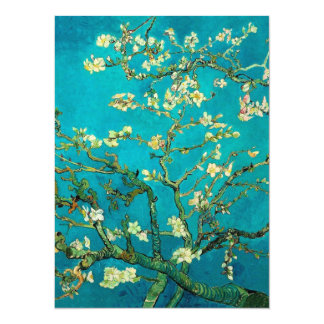 Vincent Van Gogh Blossoming Almond Tree Floral Art 5.5x7.5 Paper Invitation Card