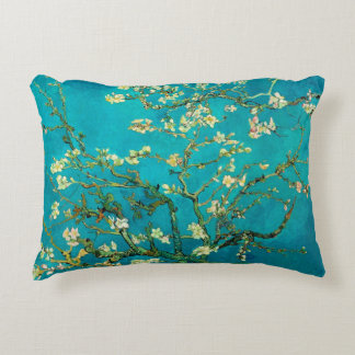 Vincent Van Gogh Blossoming Almond Tree Floral Art Accent Pillow