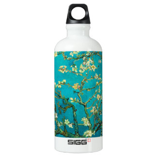 Vincent Van Gogh Blossoming Almond Tree Floral Art Aluminum Water Bottle