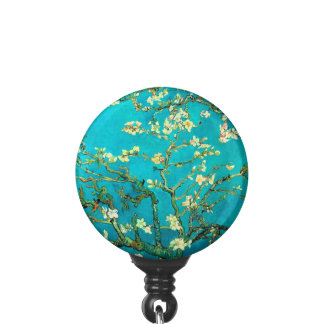 Vincent Van Gogh Blossoming Almond Tree Floral Art Badge Holder