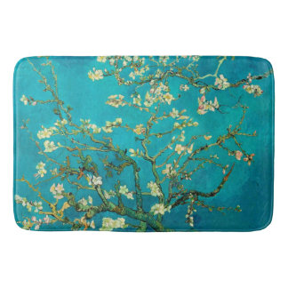 Vincent Van Gogh Blossoming Almond Tree Floral Art Bath Mat