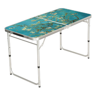 Vincent Van Gogh Blossoming Almond Tree Floral Art Beer Pong Table