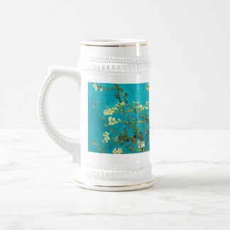 Vincent Van Gogh Blossoming Almond Tree Floral Art Beer Stein