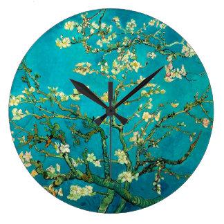 Vincent Van Gogh Blossoming Almond Tree Floral Art Clock