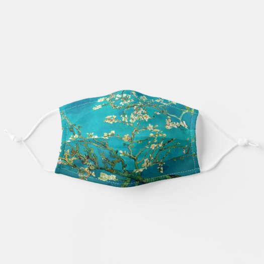 famous paintings Vincent Van Gogh Blossoming Almond Tree Floral Art Cloth Face Mask