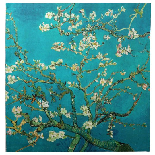 Vincent Van Gogh Blossoming Almond Tree Floral Art Cloth Napkin