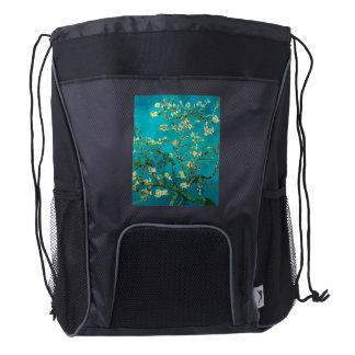 Vincent Van Gogh Blossoming Almond Tree Floral Art Drawstring Backpack