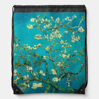 Vincent Van Gogh Blossoming Almond Tree Floral Art Drawstring Bag