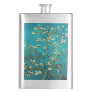 Vincent Van Gogh Blossoming Almond Tree Floral Art Flask