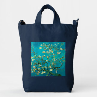 Vincent Van Gogh Blossoming Almond Tree Floral Art Duck Canvas Bag