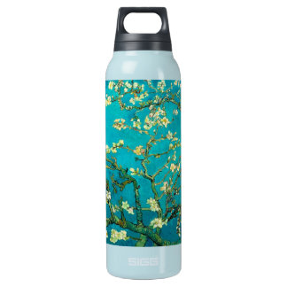 Vincent Van Gogh Blossoming Almond Tree Floral Art Insulated Water Bottle