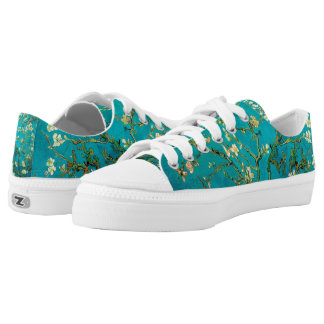 Vincent Van Gogh Blossoming Almond Tree Floral Art Low-Top Sneakers