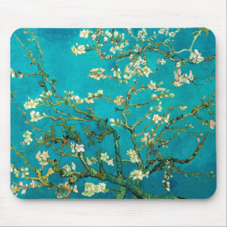 Vincent Van Gogh Blossoming Almond Tree Floral Art Mouse Pad