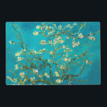 """Vincent Van Gogh Blossoming Almond Tree Floral Art Placemat<br><div class=""""desc"""">Vincent Van Gogh Blossoming Almond Tree Vintage Floral Art Blossoming Almond Tree is an 1890 painting by Dutch post-impressionist artist Vincent van Gogh. Almond Blossoms is a group of several paintings made in 1888 and 1890 by Vincent van Gogh in Arles and Saint-R&#233;my, southern France of blossoming almond trees. Flowering...</div>"""