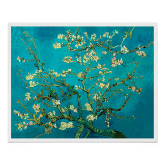 Vincent Van Gogh Blossoming Almond Tree Floral Art Poster